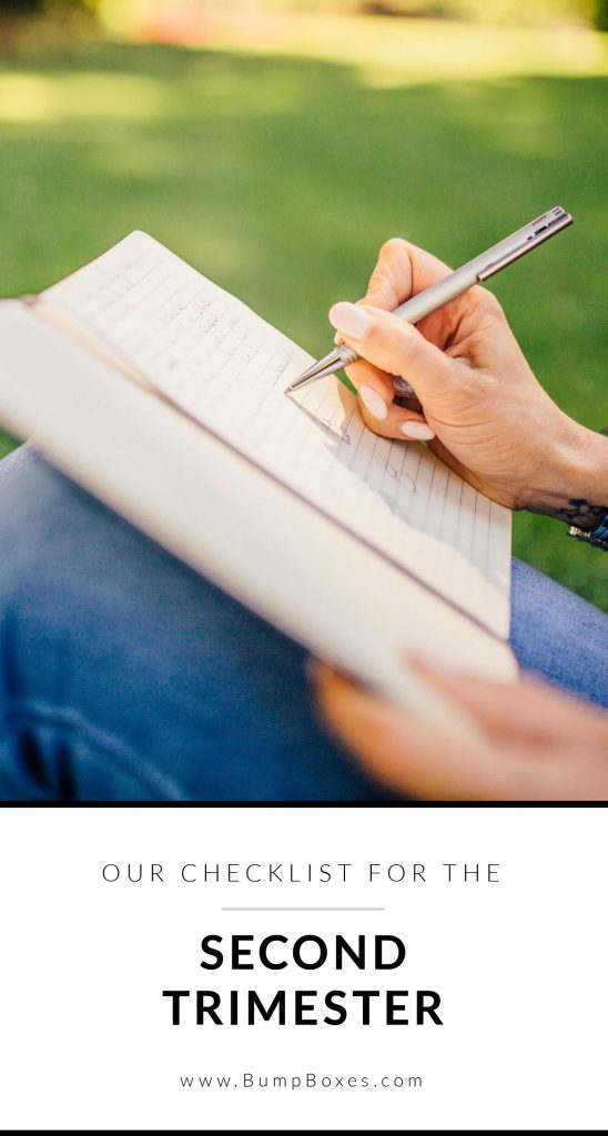 2nd Trimester Checklist