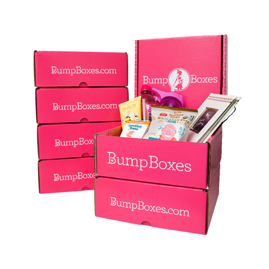 6 Bump Boxes stacked to show how many will be received in a 6 month subscription
