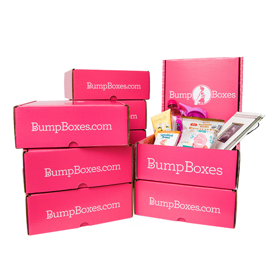 9 Bump Boxes stacked to show how many boxes are received in a 9 month subscription